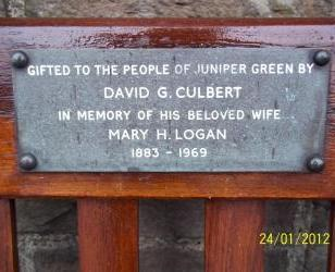Refurbished park bench in Lanark Road