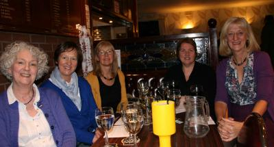 The bookgroup enjoy the evening